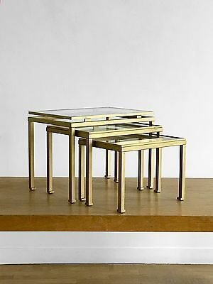 1970 Ramsey 3 Table Basse Gigogne Art-Deco Bauhaus Moderniste Space-Age