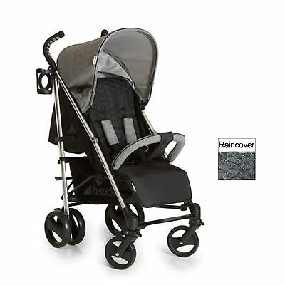 Hauck Melange Grey Vegas Pushchair Stroller Baby Buggy With Raincover