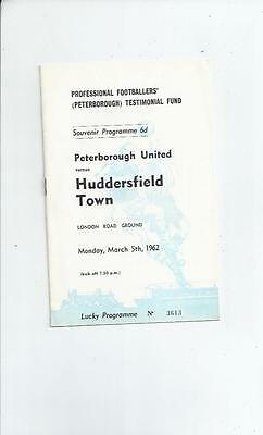 Peterborough United v Huddersfield Town Professional Footballers  Fund 1961/62