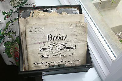 manuscript An amazing deed box of 10  indentures  etc , including 1680