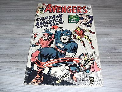 The Avengers #4 Very Good+ (4.5) March 1964 1St Silver-Age Captain  America. Hot