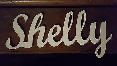 Wood wall name sign for childrens, baby, nursery, man cave.  priced per letter