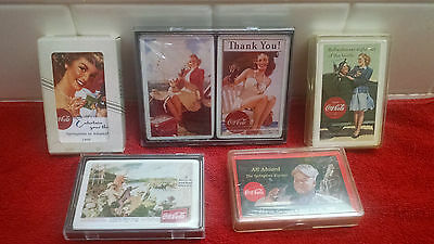 Coca Cola Collectors Club Playing Cards 6 Decks UNOPENED-FACTORY-SEALED MINT!