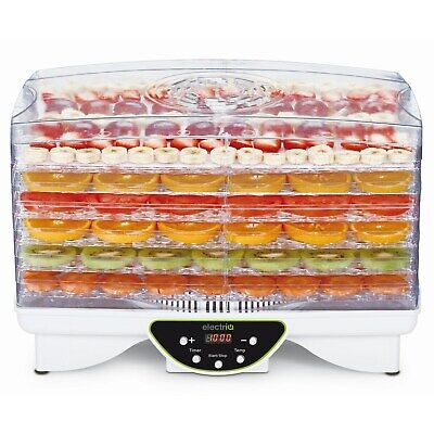 Food Dehydrator with Digital Thermostat & Timer Fruit Preserver Beef Jerky Dryer