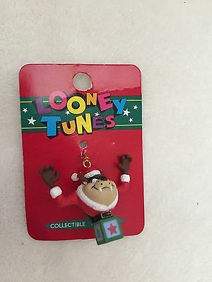 """Christmas Looney Tunes """"TAZ"""" Zipper Pulls, Charms, or Keychains"""