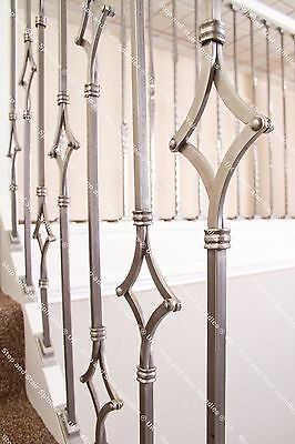 Stop & Stair Spindles ® - Wrought Iron Metal Stair Spindles - Multiple Designs