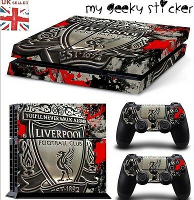 PS4 Game Console Controller Skin Sticker Liverpool FC Football UK STOCK