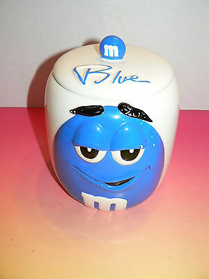 Galerie Blue M&M Cookie Candy Jar Canister