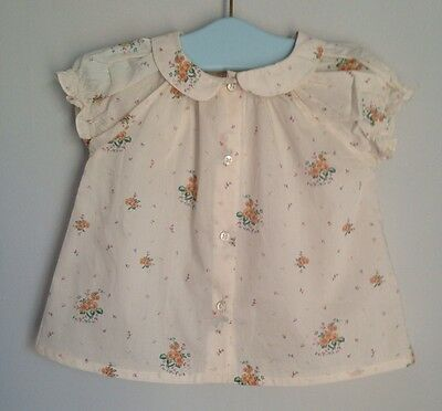 Marie Chantal Pretty Floral Blouse Baby Girl Size 18-24 Months BNWT Designer