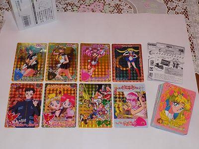 Bandai Carddass Revival Collection Sailor Moon Part 2 Full Set 32 Cards 8 prisms