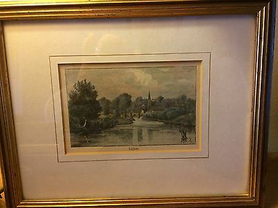 Vintage Framed print of Clifton , over 100 year old