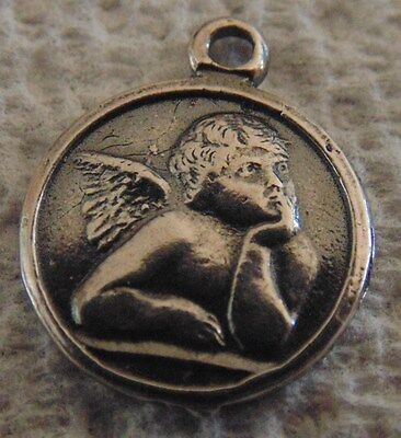 Key Ring Sterling Silver CHERUB ANGEL  Porte Clefs Argent ANGE
