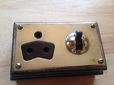 Vintage Industrial MK  Switch And Plug Socket Restored Perfect