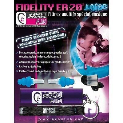 Acoufun Fidelity ER20 Junior - Protection auditive