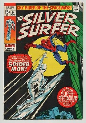 The Silver Surfer #14 NM- 9.2 OW/W pages (Mar 1970, Marvel)