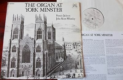 The Organ At York Minster Lp Jackson Whiteley Music From York (1979) Nm