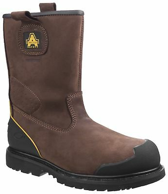 Amblers FS223 S3 SRA brown anti-static waterproof safety rigger boot & midsole