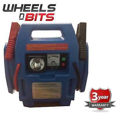 Car Battery booster jump start compressor 12v boat van portable 12 volt power