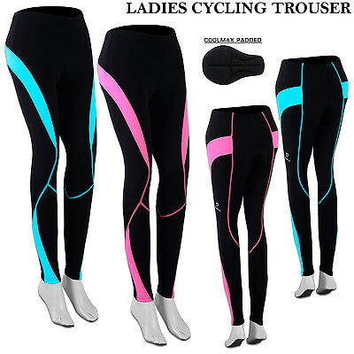 Ladies Cycling Tights Winter Padded Thermal Legging Trouser Bicycle Long Pant