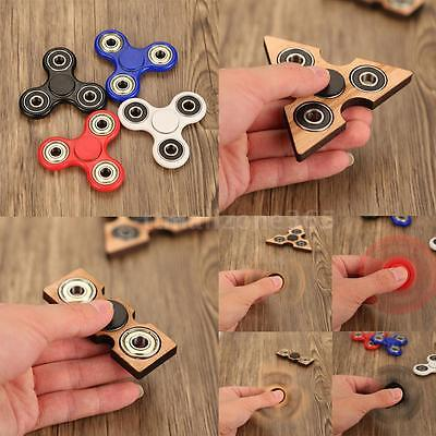 Tri-Fidget EDC Hand Finger Spinner Spin Focus Thought Toy Helps Relieve Stress