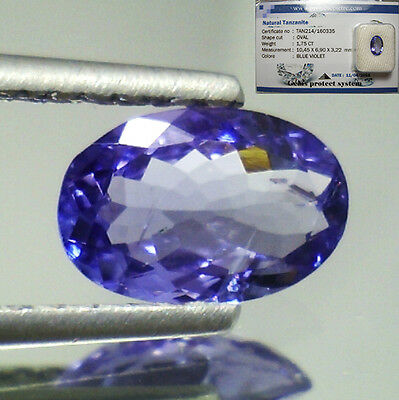 Tanzanite  D-Block In Blister Sigillato Vvs If 1,75 Ovale