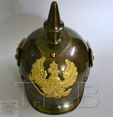 German Pickelhaube Prussian Spiked Armor Helmet Office Militaria Collectible