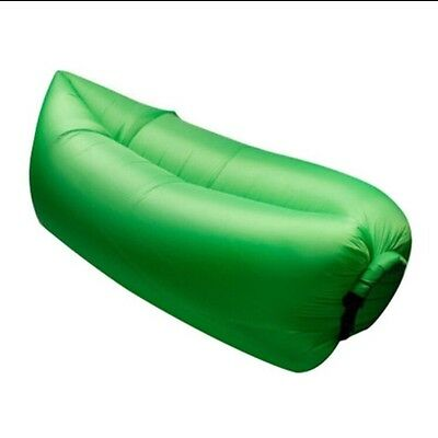 Green Lazy Bag Inflatable Air Bed Sofa Camping/Festivals Blow Up Chair *NEW*UK*