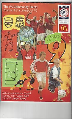 Arsenal v Liverpool Charity Shield Football Programme 2002