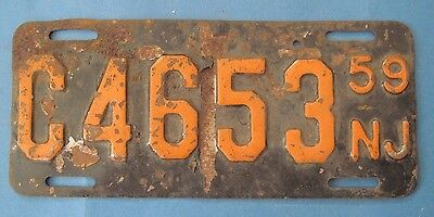 1959 New Jersey motorcycle license plate