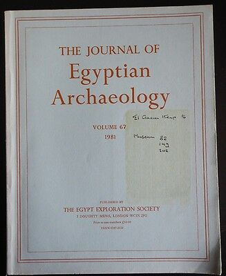The Journal of Egyptian Archaeology Volume 67 1981 The Egypt Exploration Society