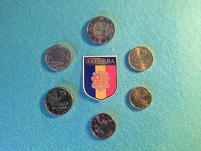 Serie Euro Andorre Unc 0,05 Cts A 2 Euro
