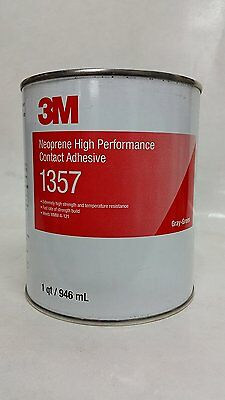 3M 1357 Neoprene High Performance Contact Adhesive 1357 Gray-Green, 1 Quart