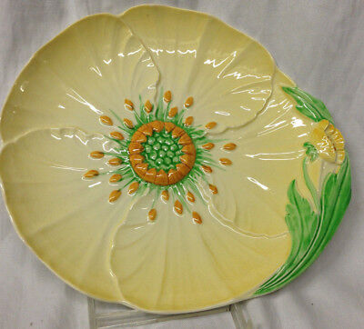 "Carlton Ware Australian Design Buttercup Plate 9"" Flower Shaped Yellow"