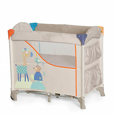New Hauck Animals Beige Sleep N Care Travel Cot Portable Baby Nest With Storage