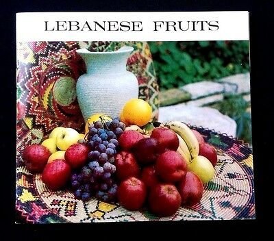 Lebanese Fruits booklet from HELIO ELECTRONIC PRESS DU LIBAN Lebanon 1960's