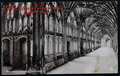 Postcard - Gloucestershire - Gloucester Cathedral, Cloisters