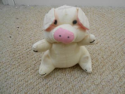 Small Soft Light Pink Pig With Thread Tail