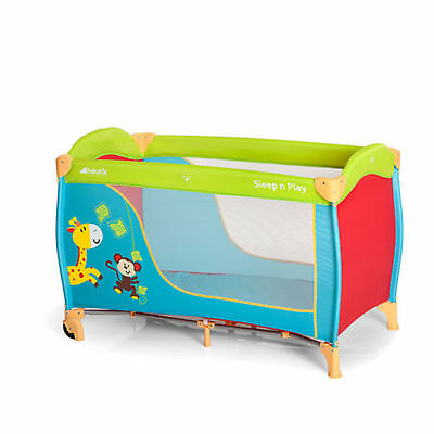 New Hauck Jungle Fun Sleep N Play Portable Travel Cot / Baby Playpen