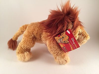 """Rare Disney Store Exclusive Mufasa Lion King Soft Toy Still Tagged 8"""""""