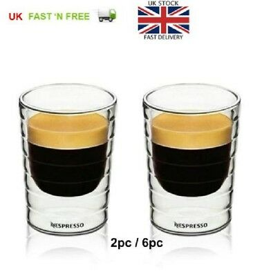 Nespresso Coffee Cups 6pcs/2pc mug espresso cup thermal double wall 85 ml