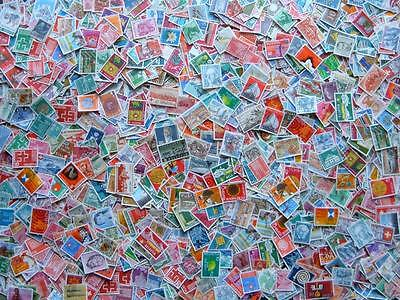 Switzerland mixture. Approx 3000 stamps. Used/canceled