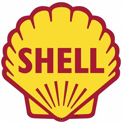 Shell Gas Station Classic Logo Large Metal Sign Vintage Style Garage 28 x 28