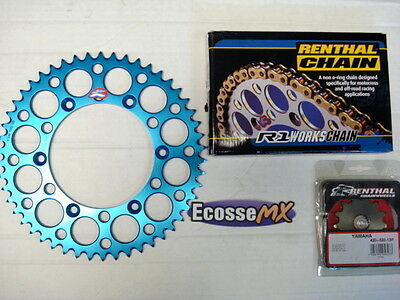 Yamaha YZ125 Renthal H/D Chain And Sprocket Kit BLUE