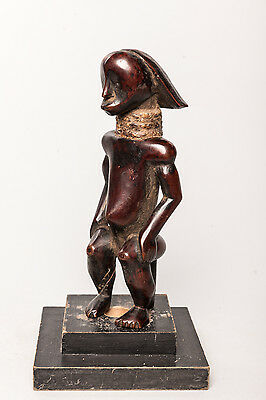 Fang, Seated Reliquary Guardian Statue, Central Gabon, African Tribal Art