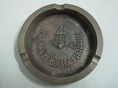 Antique ashtray in bronze Portuguese War Navy