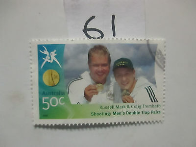 N o -61--2006 COMMONWEALTH  GAMES  -USED  50c  VALUES  ---A1  ORDER