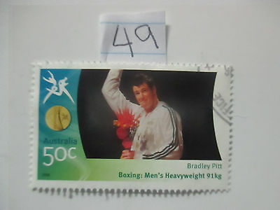 N o -49--2006 COMMONWEALTH  GAMES  -USED  50c  VALUES  ---A1  ORDER