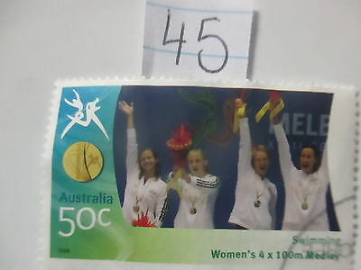 N o -45--2006 COMMONWEALTH  GAMES  -USED  50c  VALUES  ---A1  ORDER