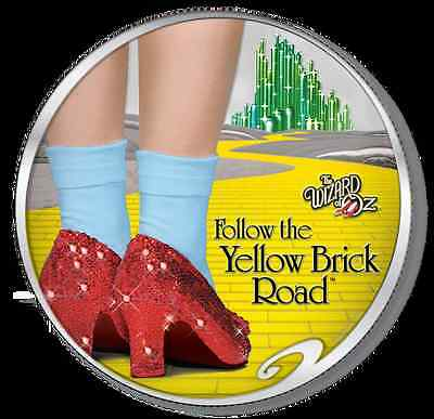 RUBY SLIPPERS - DOROTHY WIZARD OF OZ - 2017 1 oz Pure Silver Coin Smartminting