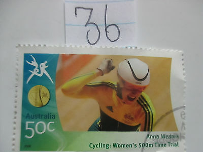 N o -36--2006 COMMONWEALTH  GAMES  -USED  50c  VALUES  ---A1  ORDER